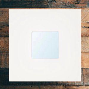New White Malma Square Wall Mirror from Ikea